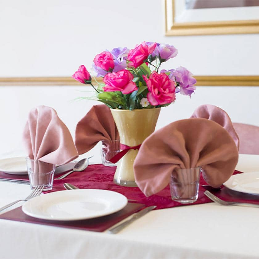 Dining room at Hatfield care home