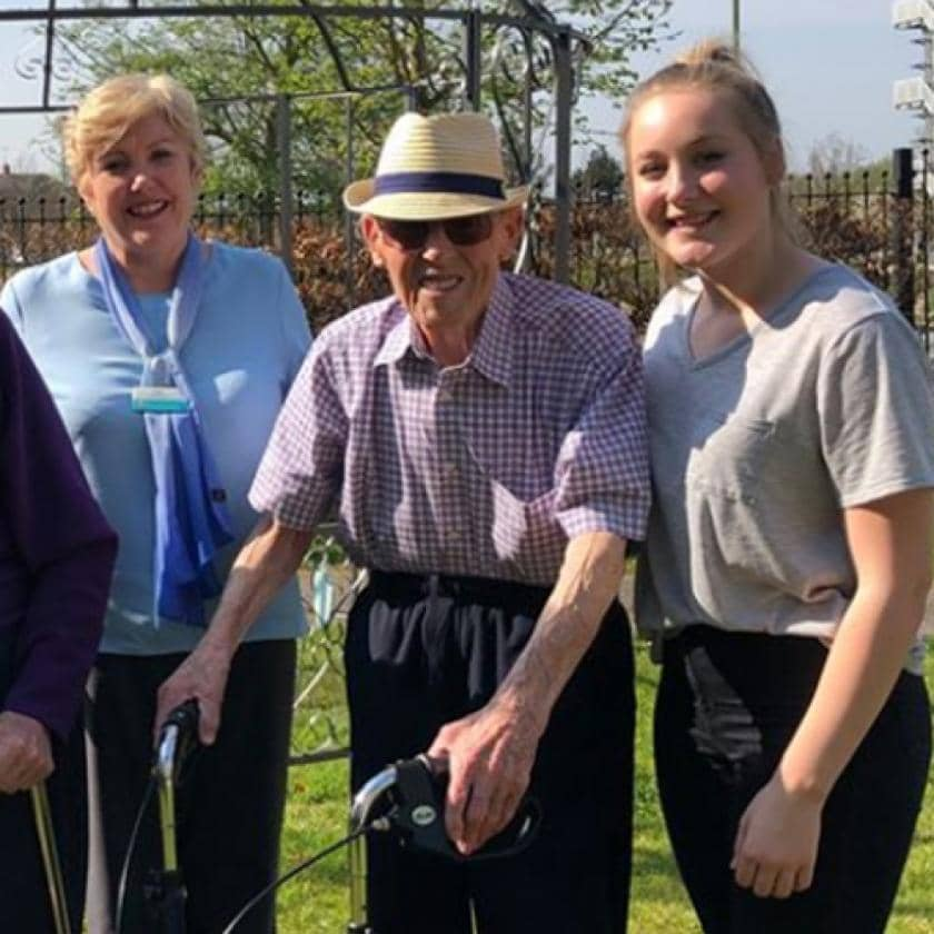 Hatfield wellbeing assitant with manager and resident