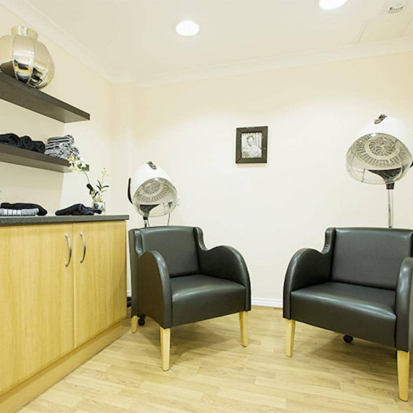 Hairdressers at Haven care home
