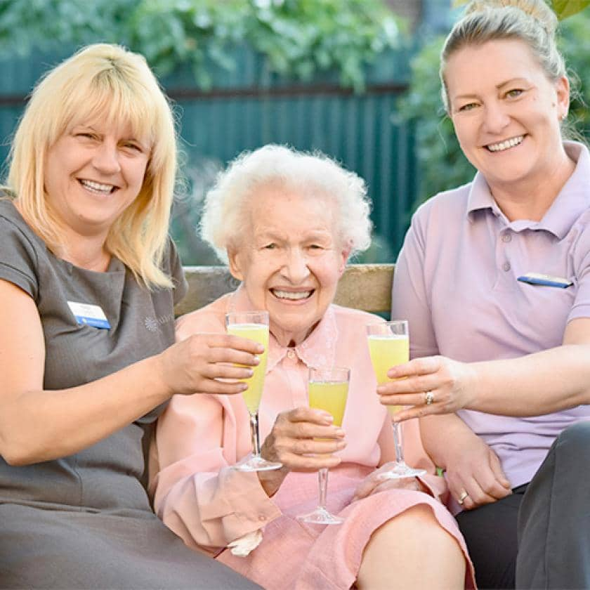 Celebrations at Heathlands care home