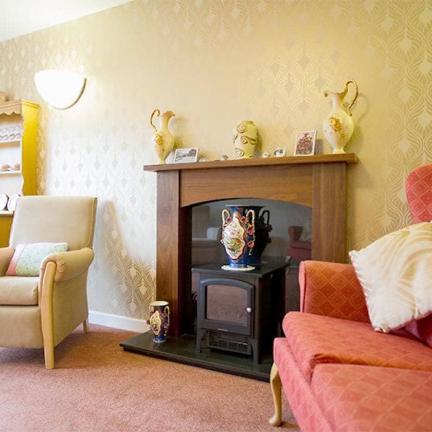 Lounge area at Heathlands