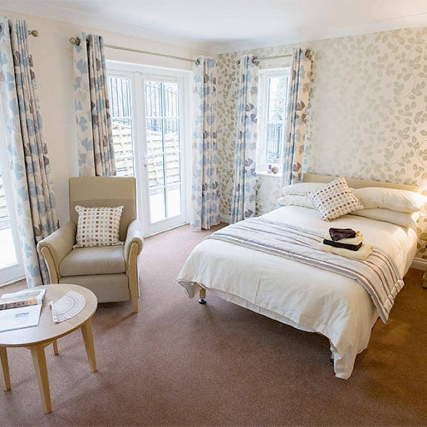 Residents bedroom at Iffley care home