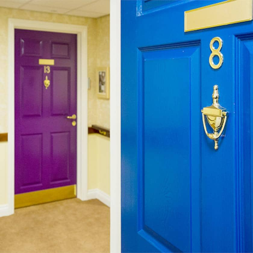 Doors at Iffley care home