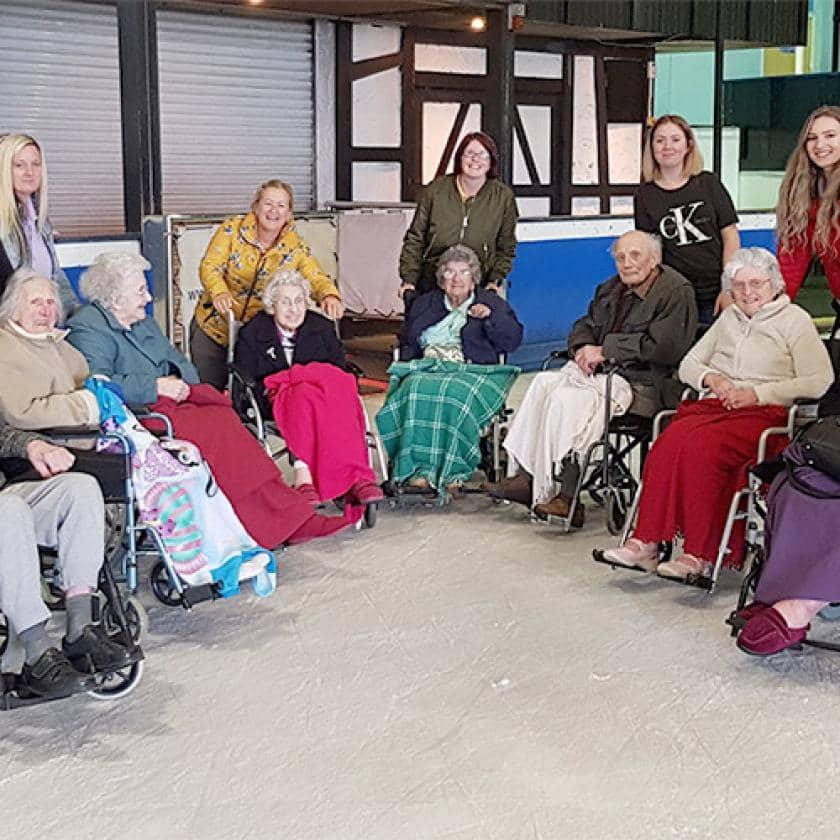 Ivydene residents and staff ice skating