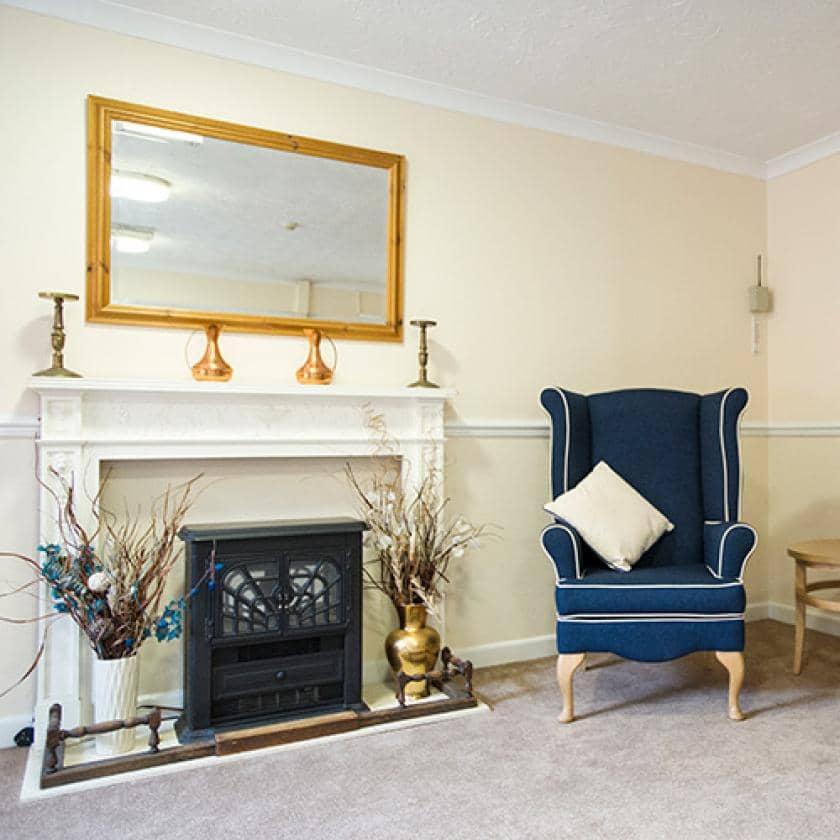 Lounge area at Ivydene care home