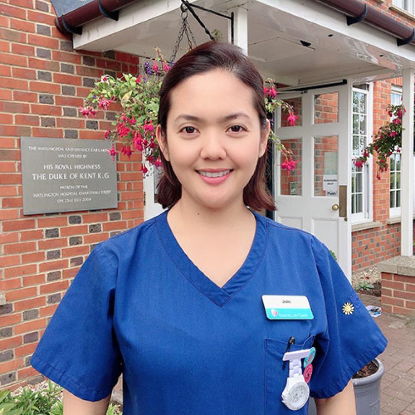Sanctuary Care employee Julie Ann Castro