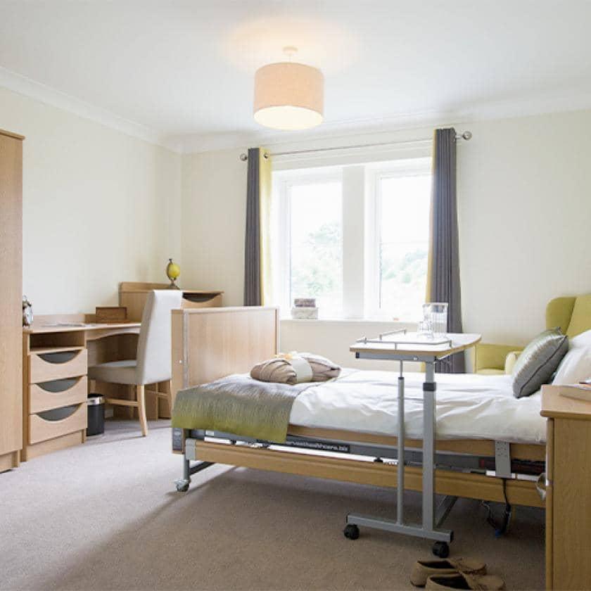 Residents bedroom at Juniper House