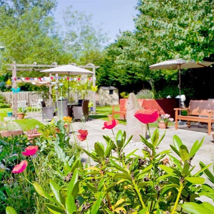 Garden at Lake and Orchard