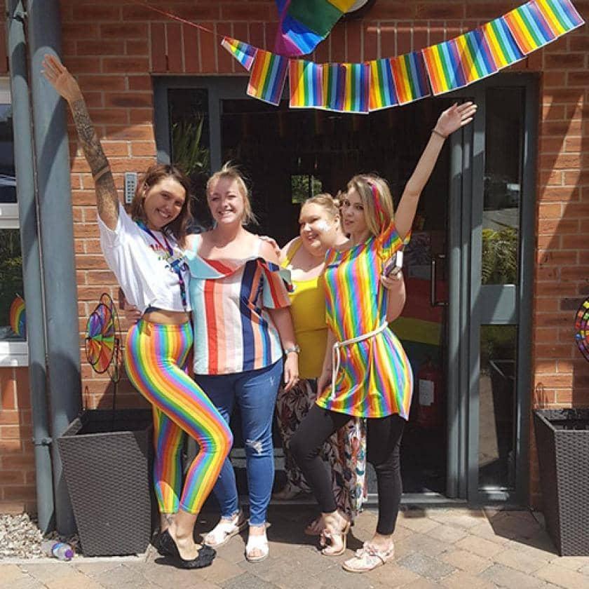 Lime Tree staff celebrating diversity
