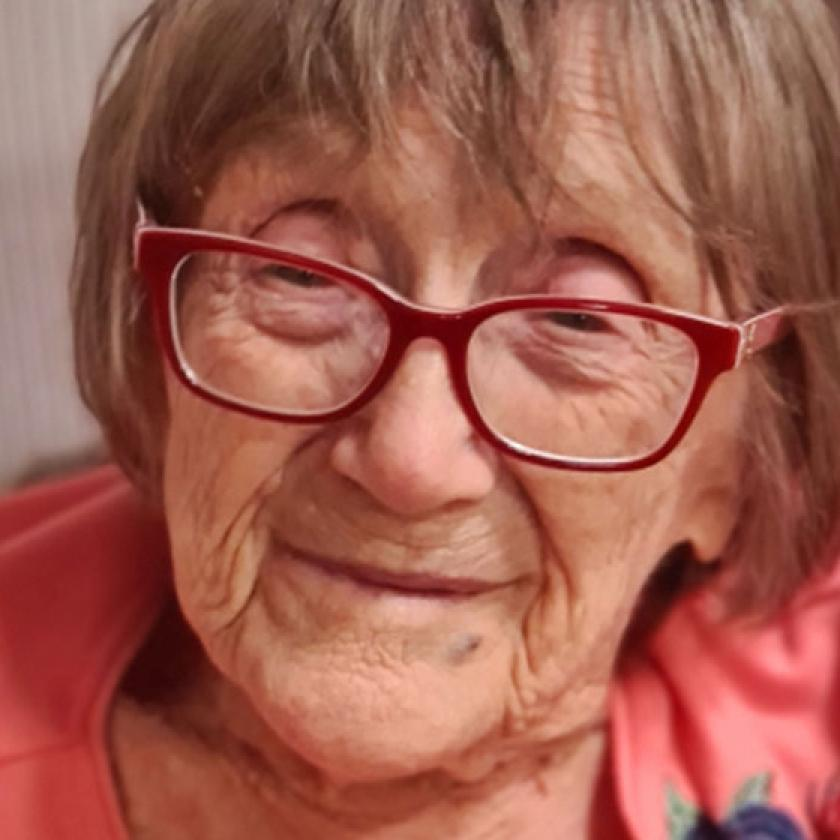 Millie Pollard at The Park Residential and Nursing Home in Derby where she receives residential care