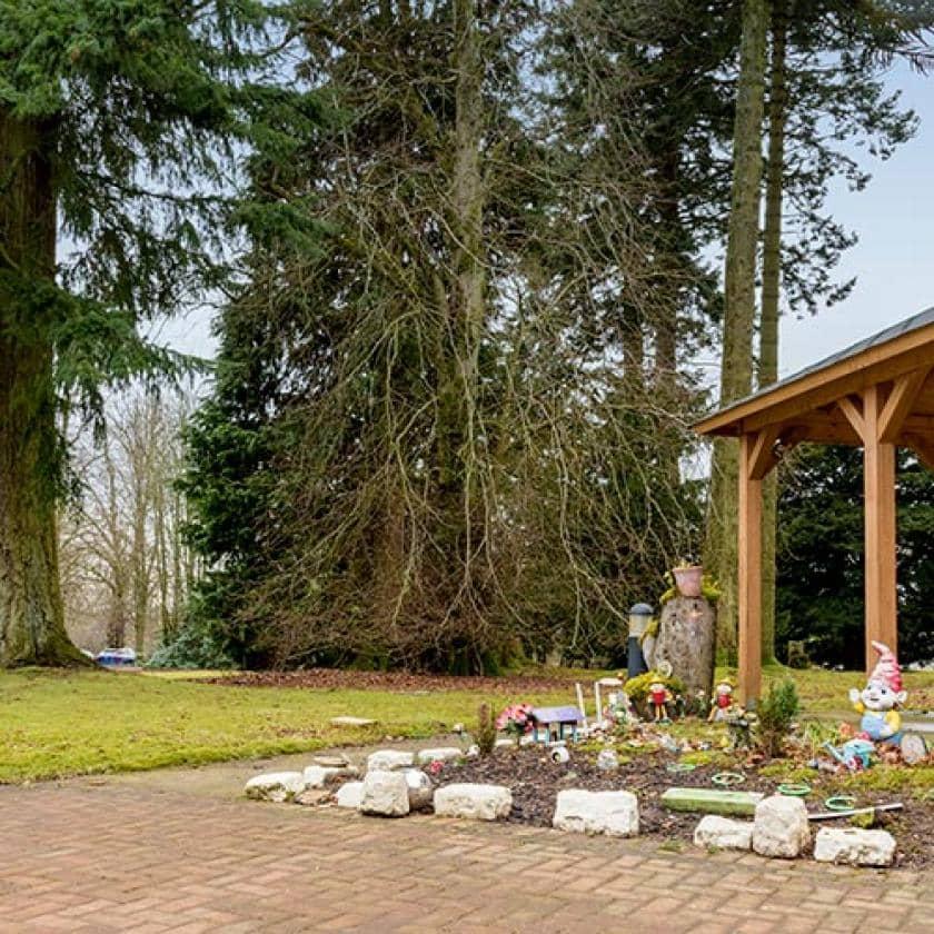 Park Lodge garden area