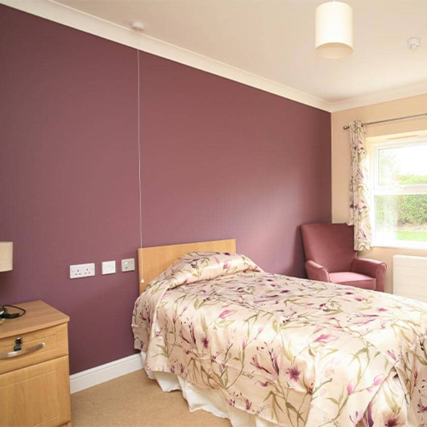 Bedroom for residents at Park View