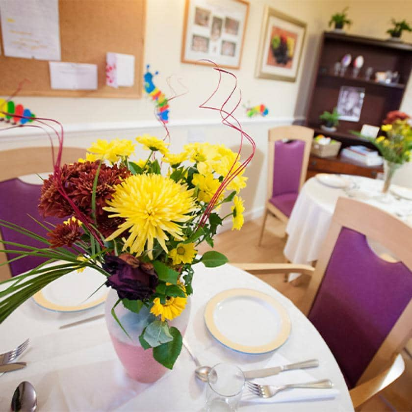 Regent care home dining room