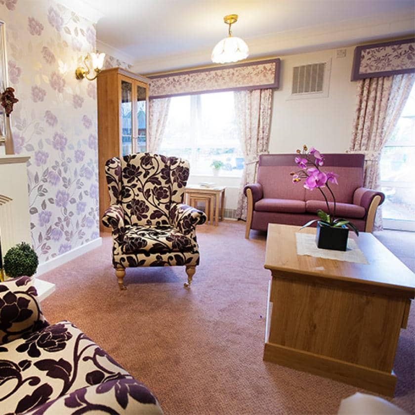 Lounge at Regent care home