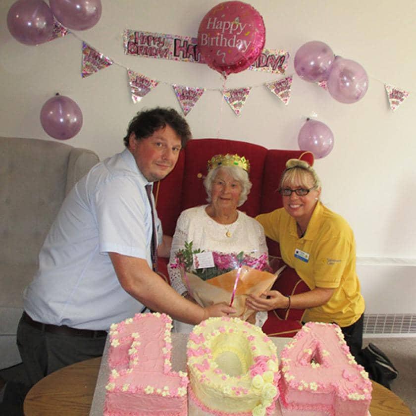 Resident celebrates 104th birthday