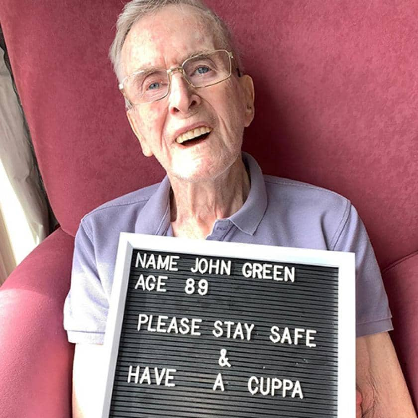 Resident John Green with encouraging message