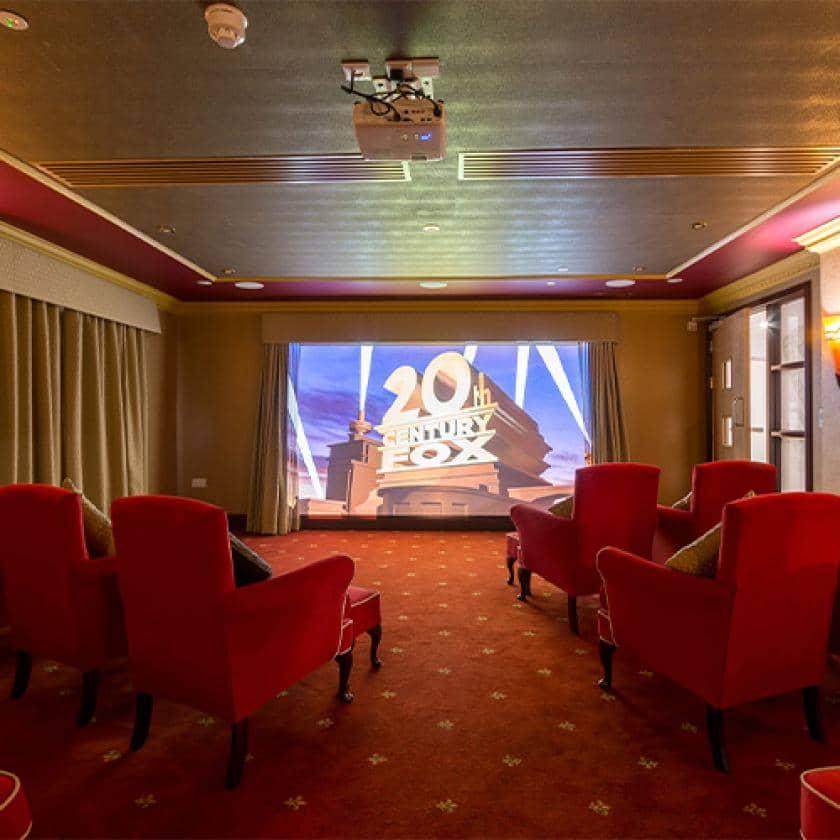Cinema room at Ridgewood Court