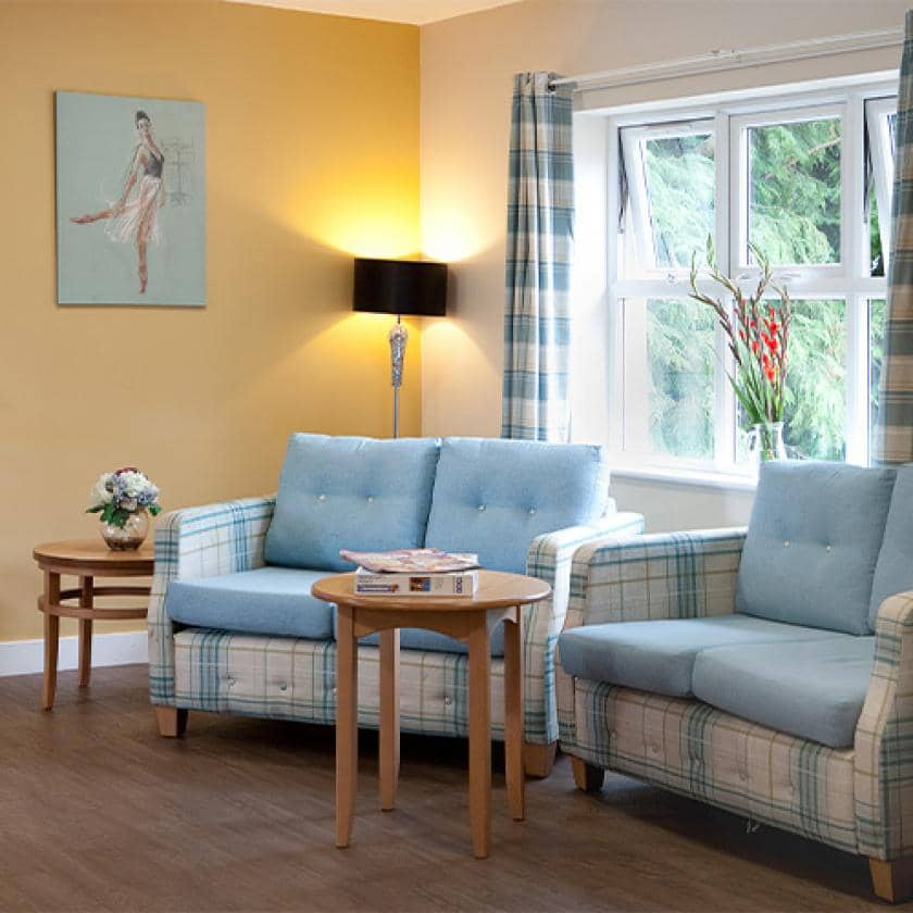 Living area for residents at Rushyfields