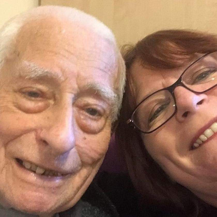 Dennis Hazel, resident, and his daughter Brenda