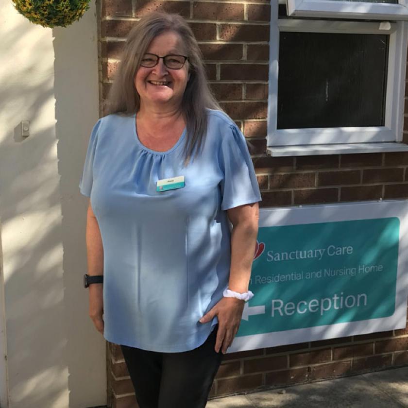 Adminstrator Diane Gibson outside Pavillion Residential and Nursing Home in Sunderland