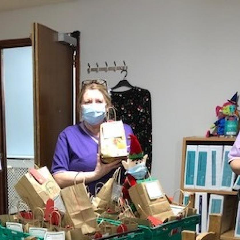 Staff are so pleased to receive so many Christmas gift donations