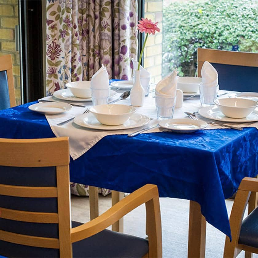 Dining area at Shaftesbury Court
