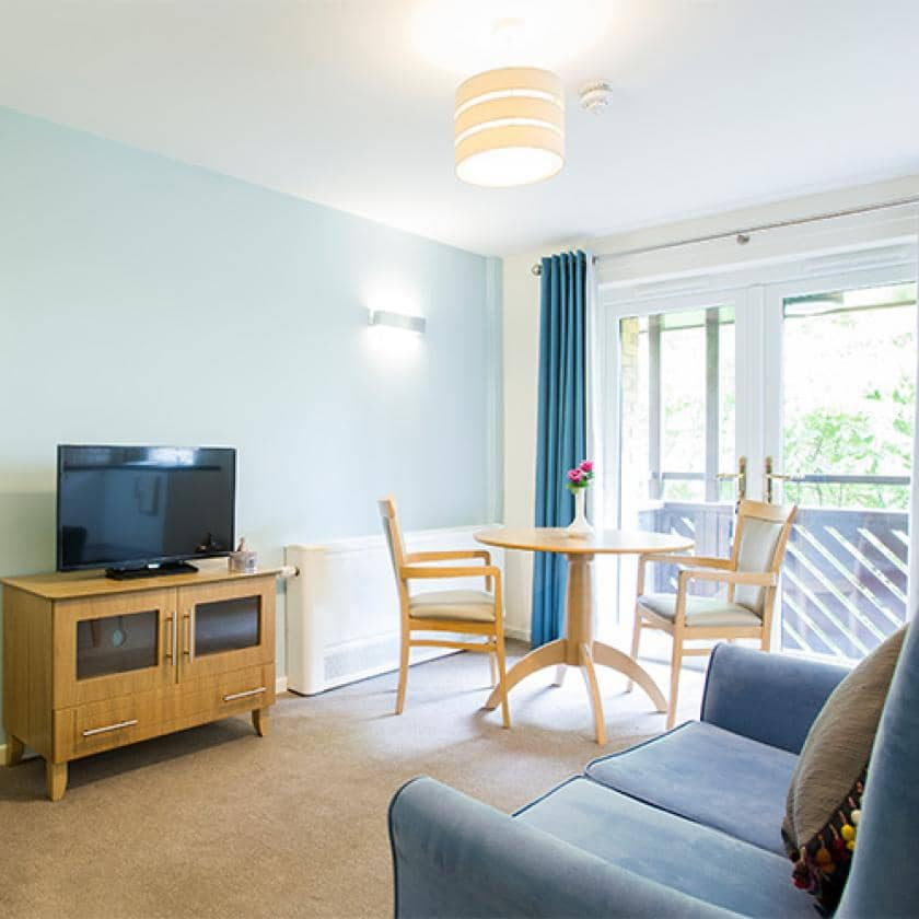 Communal living area at Shaftesbury Court