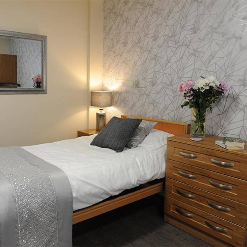 Residents bedroom at Sherwood Forest