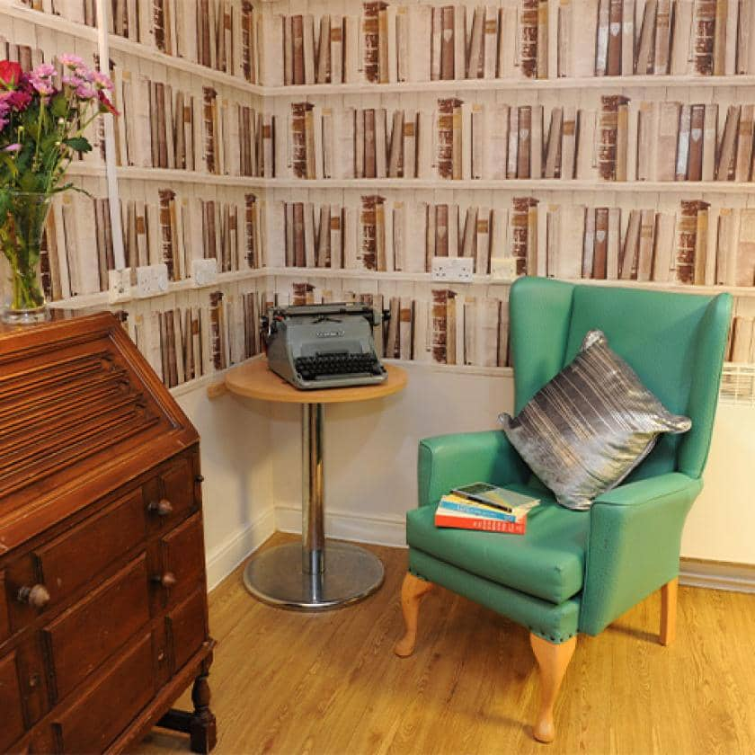 Reading area at Sherwood Forest