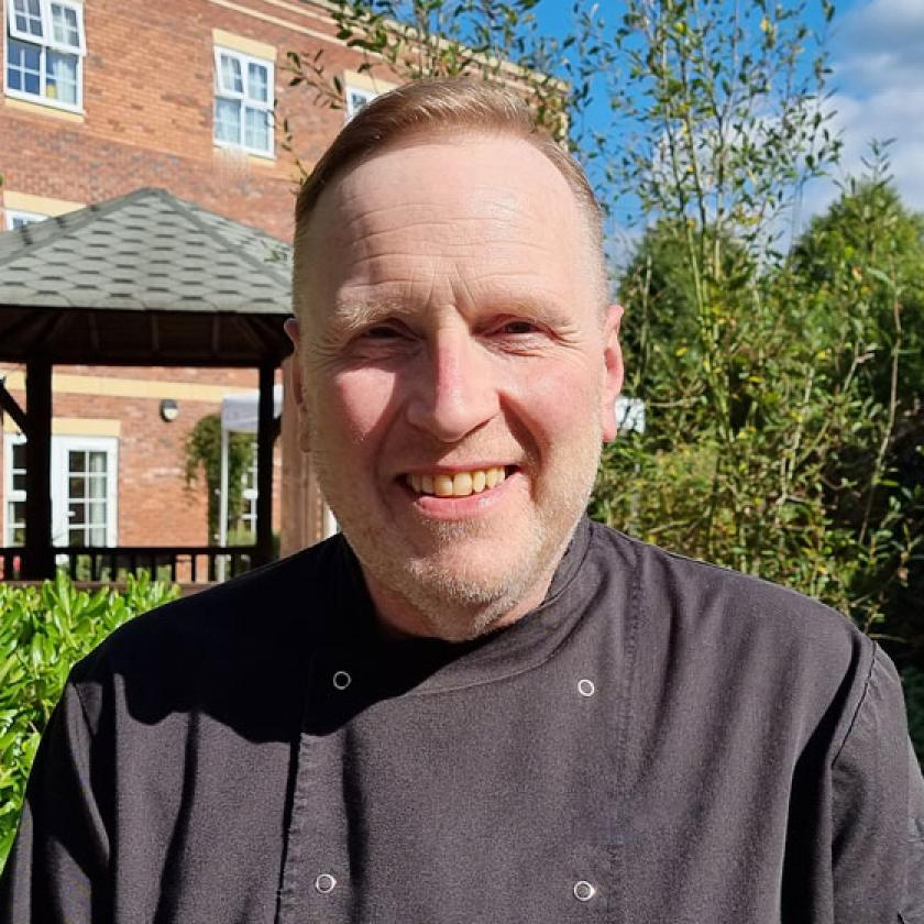 Assistant chef Stephen Frost at our Upton Dene Residential and Nursing Home in Chester