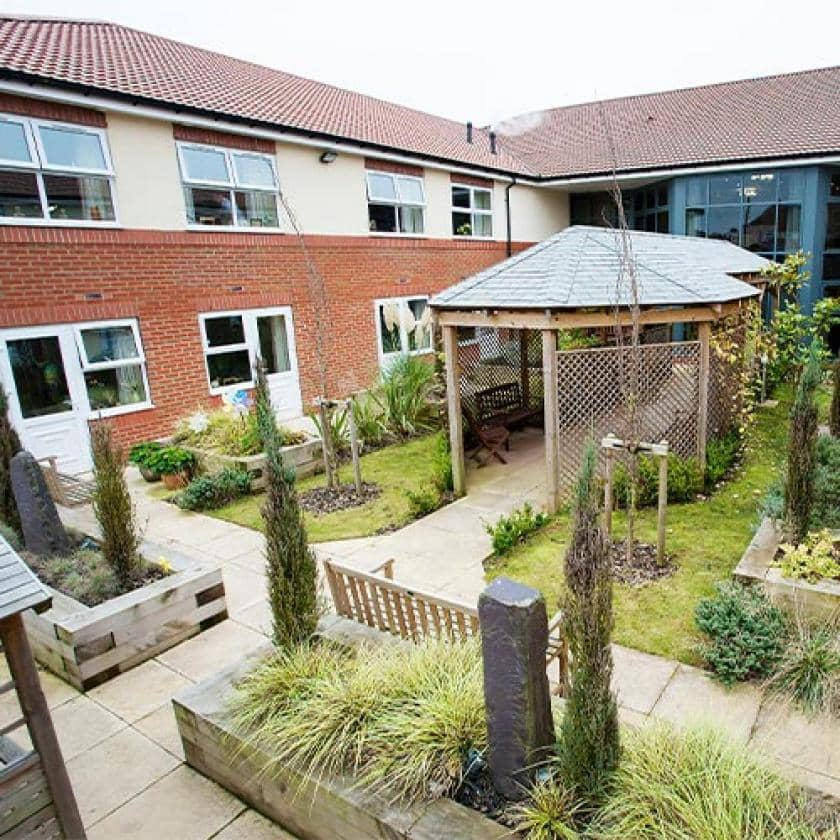 Exterior of The Beeches care home