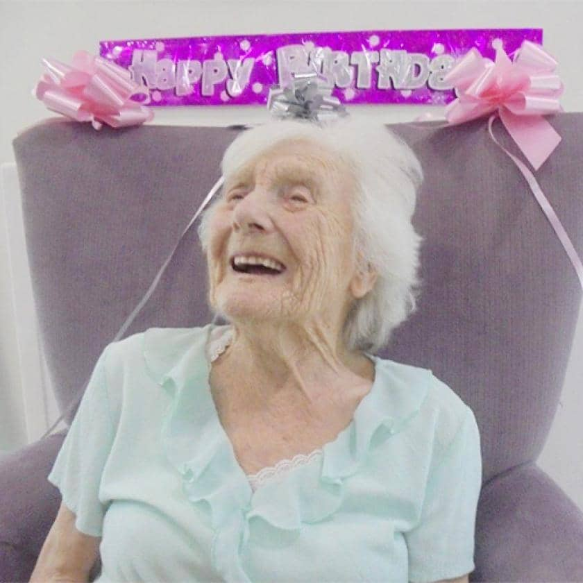 Sanctuary resident celebrating her 100th birthday