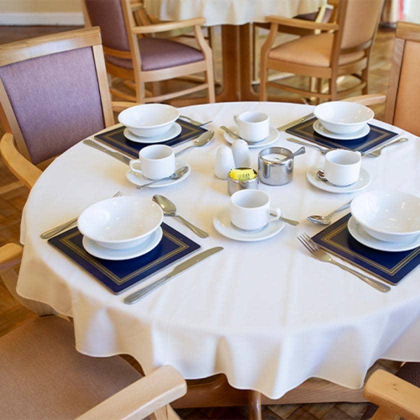 Pavillion dining area