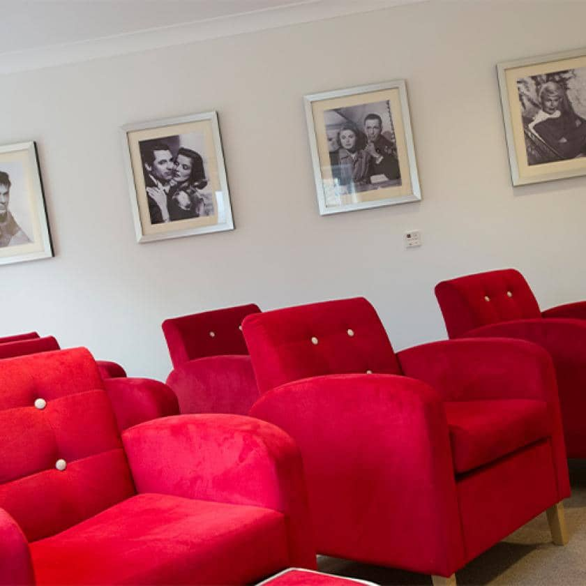 Cinema room at Upton Dene