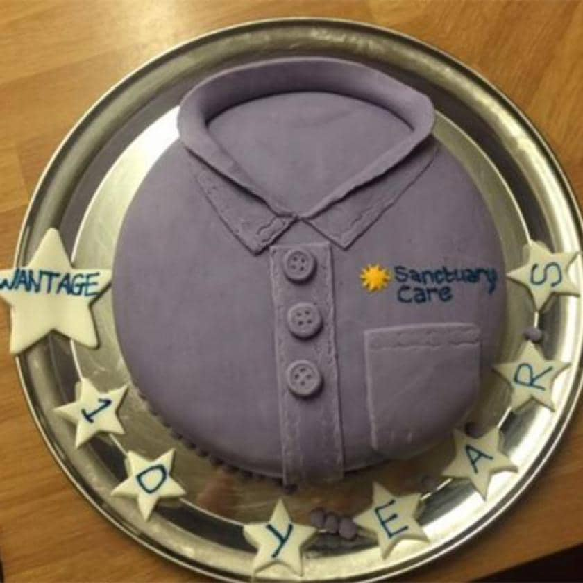 Cake celebrating Wantage 10 years