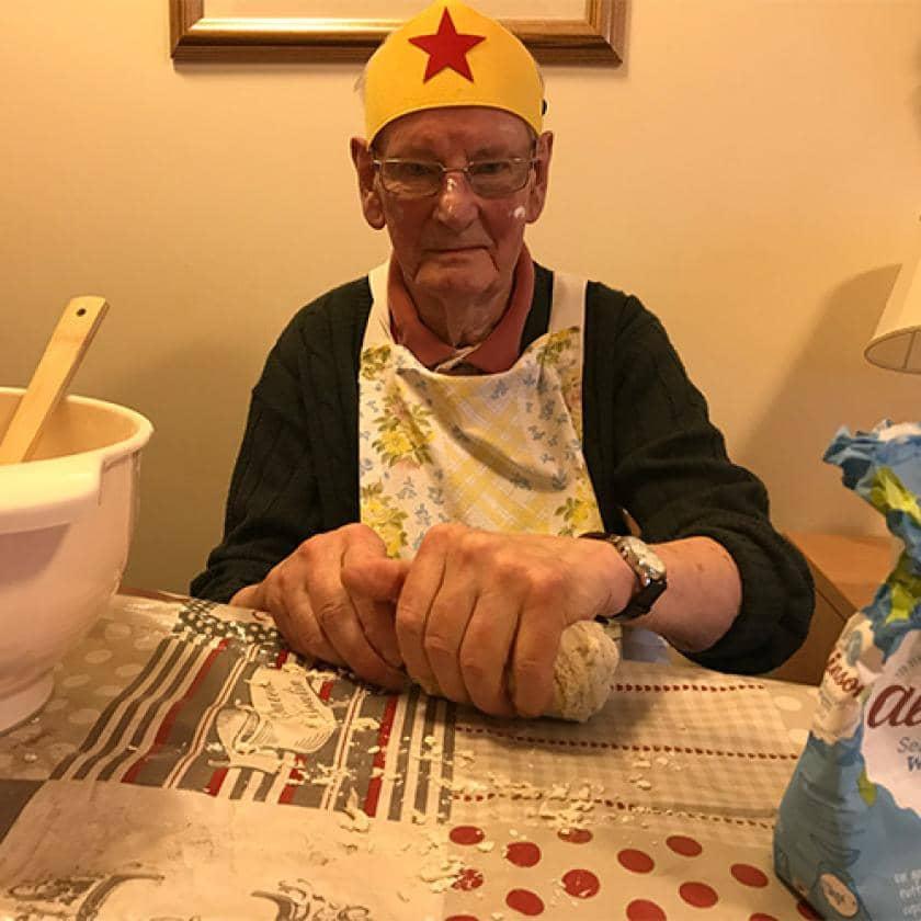 Resident John Challingsworth who won the 'Super Baker' award