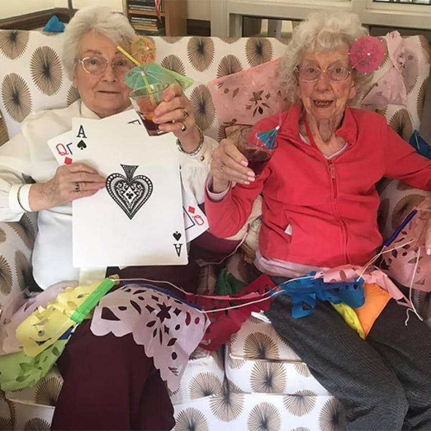Two Yarnton residents enjoying the virtual summer cruise